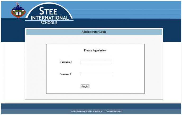 Web based School Portal